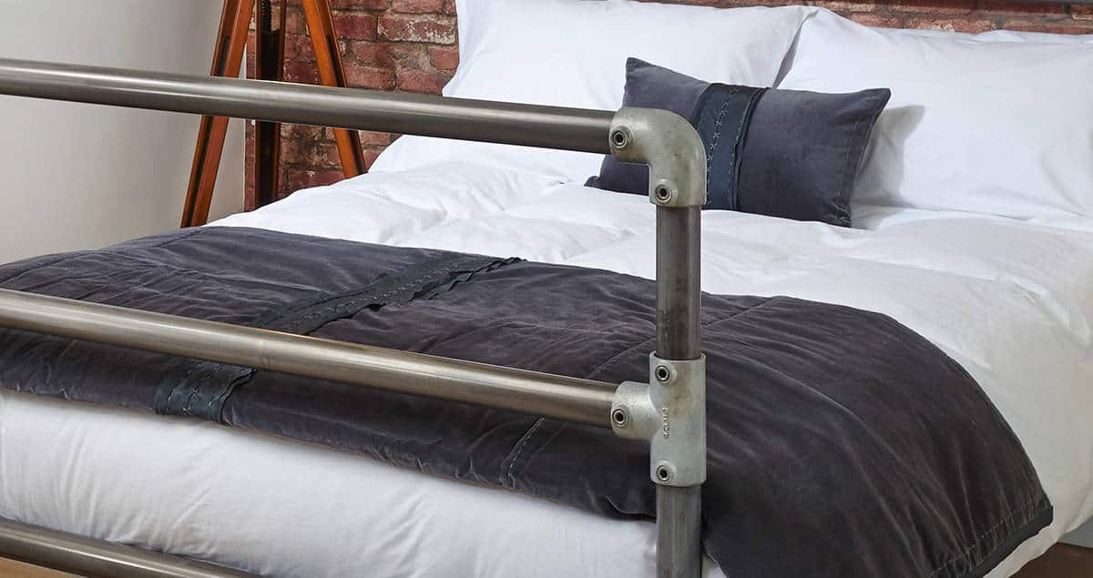 William Small Double 4 Foot Industrial Chic Bed Wrought Iron
