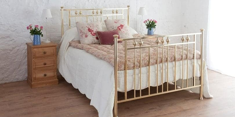 rosie single brass and nickel bed