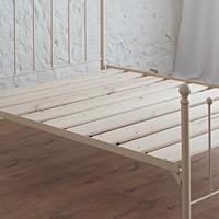 grace ivory iron bed with slatted base
