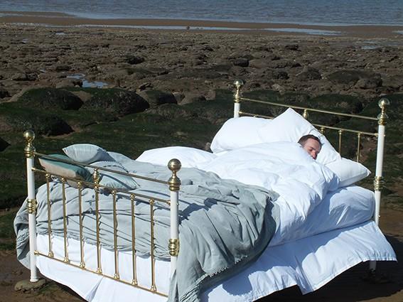 harry asleep in bed