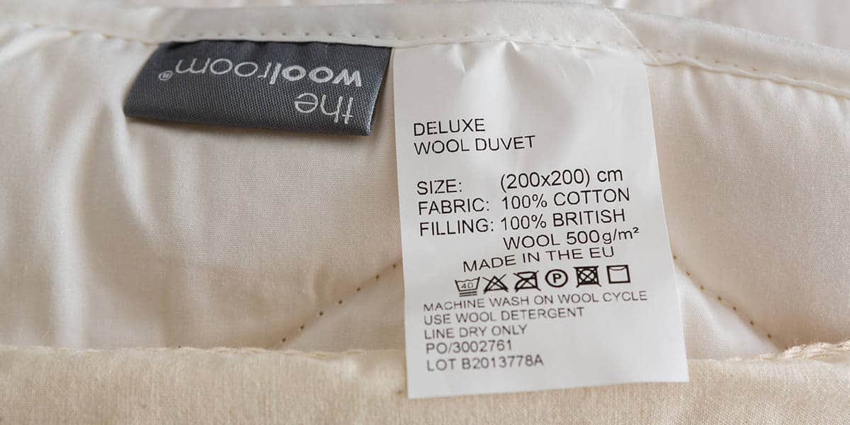 warm wool duvet