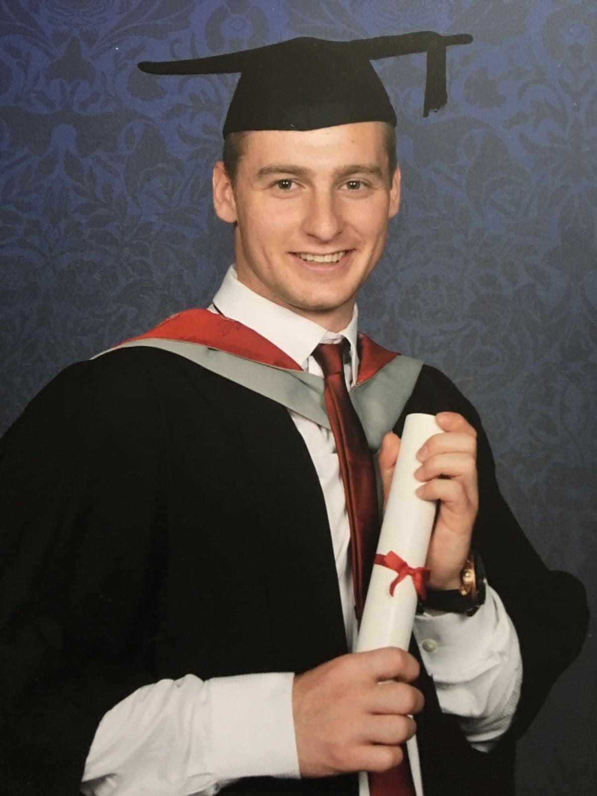 graduation photo of lloyd grieves