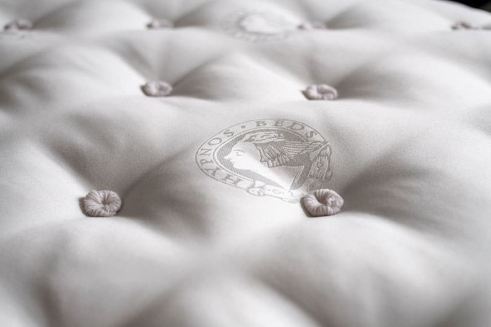 hypnos ticking mattress close up