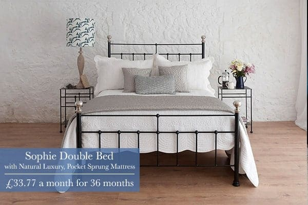 sophie iron bed with finance option