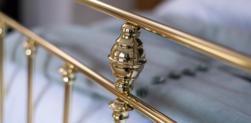 Arthur brass bed detailing