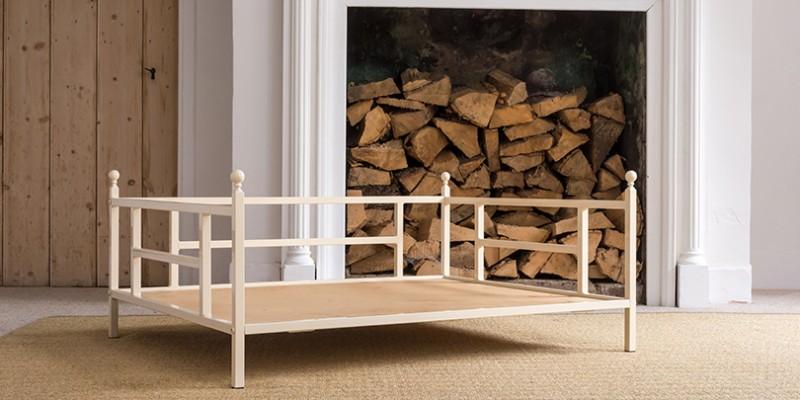iron dog bed without cushion