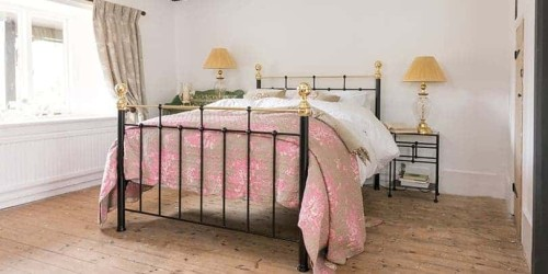 full image of nelson black iron and brass bed