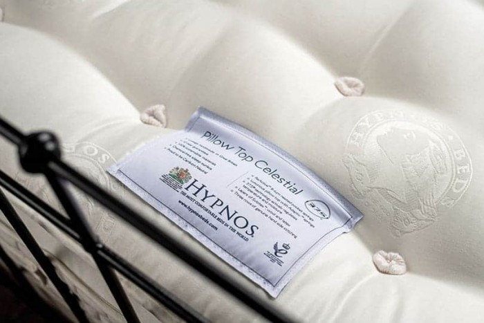 hypnos pillow top celestial close up mattress