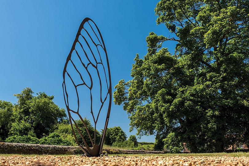 bespoke bee wing sculpture