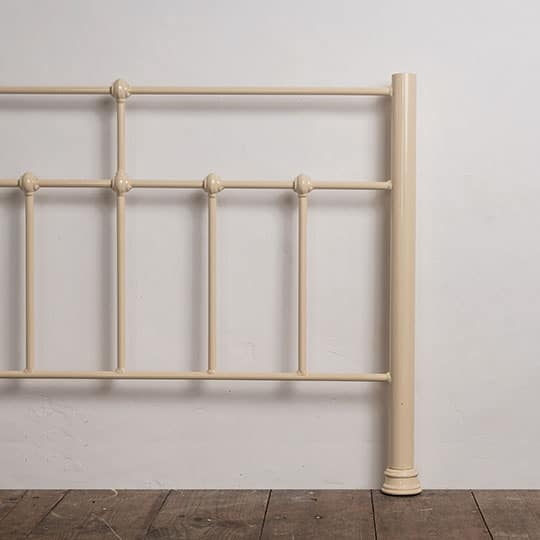 cream bed frame