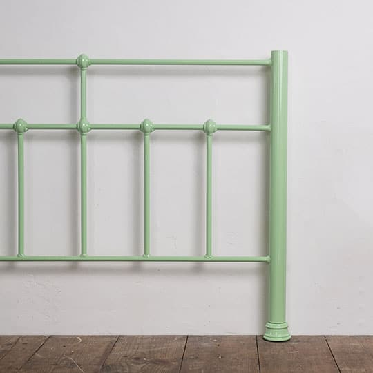 mint green bed frame