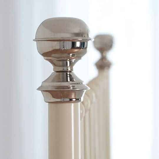 nickel bed finials