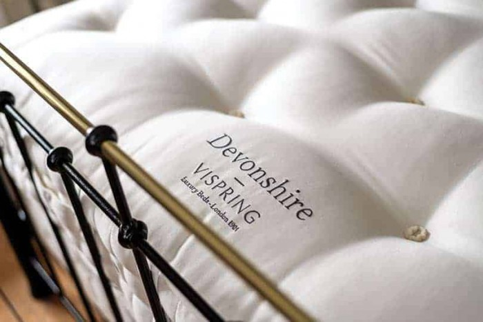 vispring devonshire embroided close up