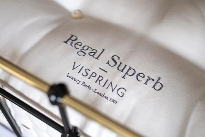 vispring regal embroided close up