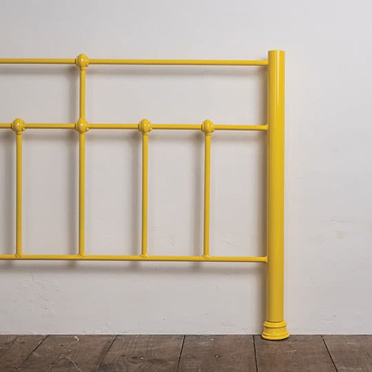 yellow bed frame