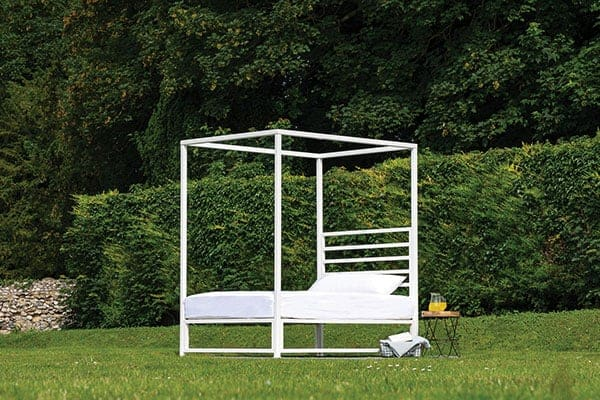 sunna outdoor four poster bed