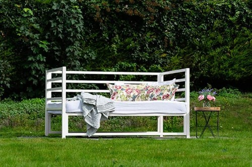outdoor iron sofa bed