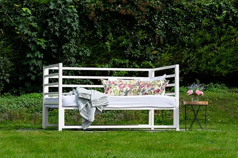 outdoor iron sofa bed